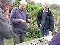 Paul James demonstrating bird ringing