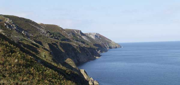 View north along the east side of Lundy © Chris Webster 2009.